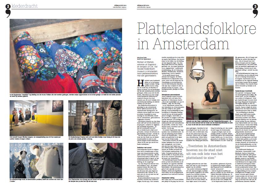 pers klederdrachtmuseum Reformatisch Dagblad