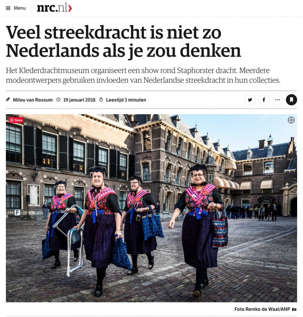 pers klederdrachtmuseum nrc 2018