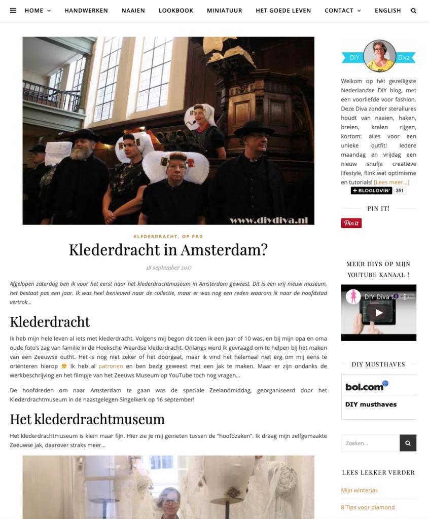pers klederdrachtmuseum diydiva.nl sept 2017