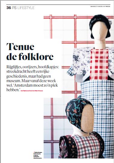 klederdrachtmuseum pers Het Parool juni 2016