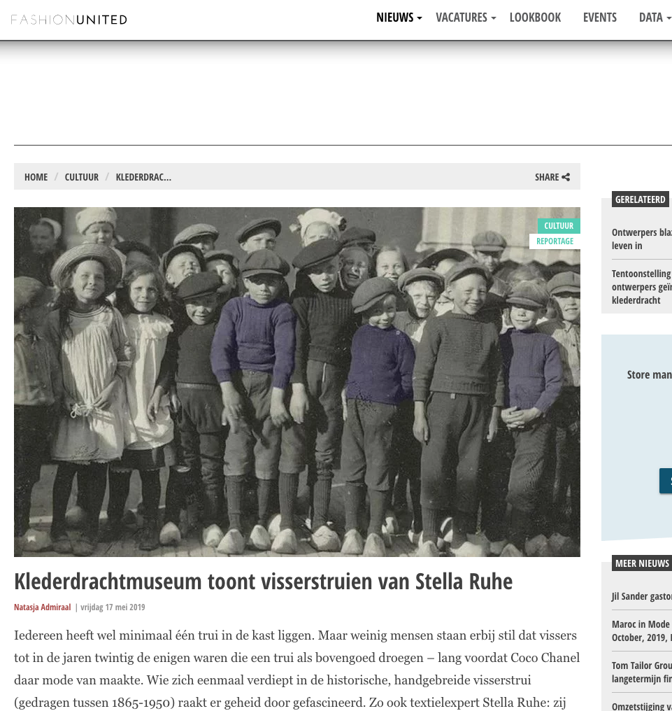 visserstruien expo klederdrachtmuseum pers fashionunited